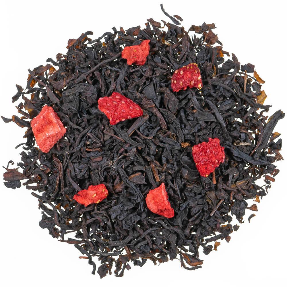 schwarzer Tee - Erdbeer Sahne